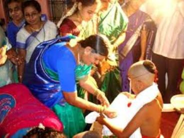 Thread Ceremony, Brahmachari proceeding to Guru's house for Education